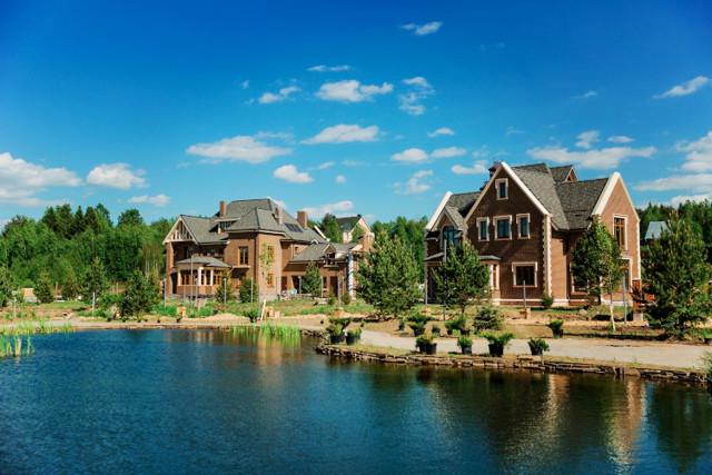 Проект строительства коттеджного поселка и расположение в нем домов
