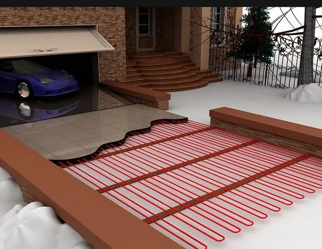 Очистка крыльца от снега и льда с помощью обогрева ступеней и других технологий