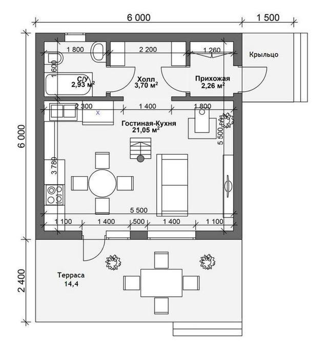 Строительство садовых домиков эконом класса на участке своими руками: чертежи и видео