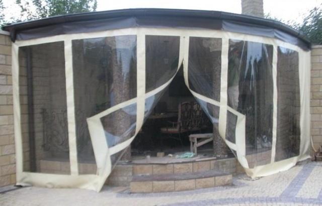 Пристройка веранды террасы к деревянному и кирпичному дому