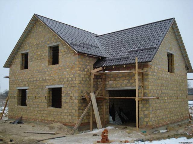 Проекты и строительство домов из ракушечника