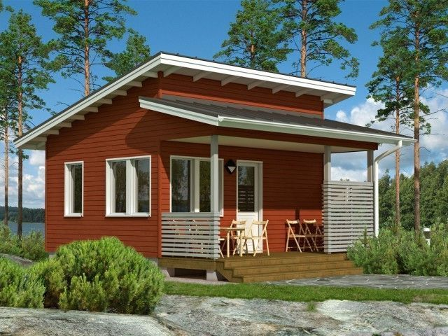Проекты небольших деревянных домов для постоянного проживания